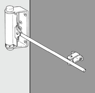 Дверная пружина Д2, Д4 с управляющей тягой